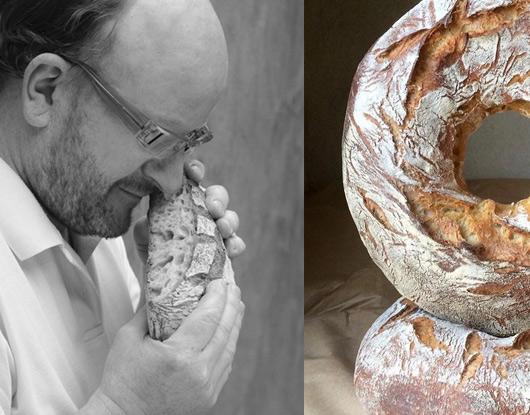 Image d'un boulanger sentant son pain