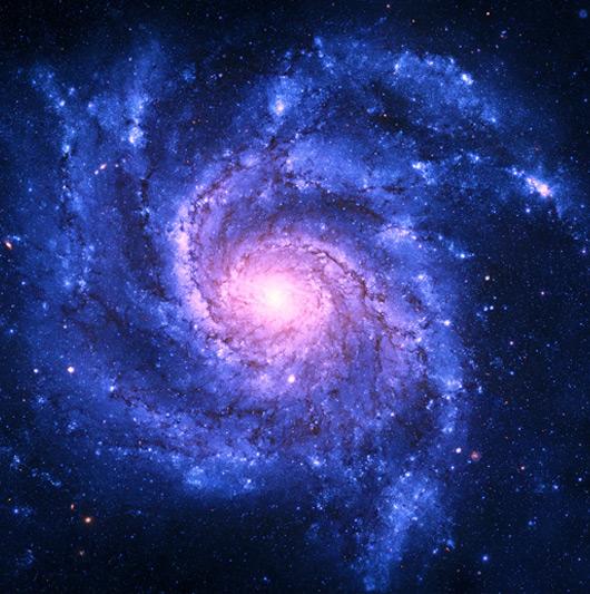 Illustration du tourbillon par la vue d'une galaxie