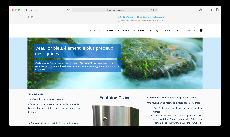 Aperçu du site Internet Alain de l'eau