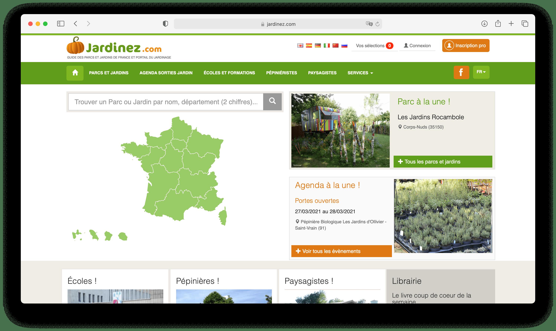 Aperçu du site Internet Jardinez