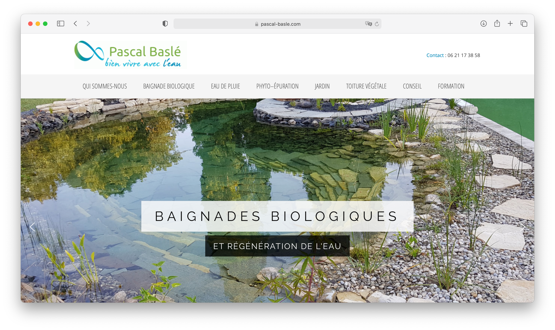 Aperçu du site Internet Pascal Baslé