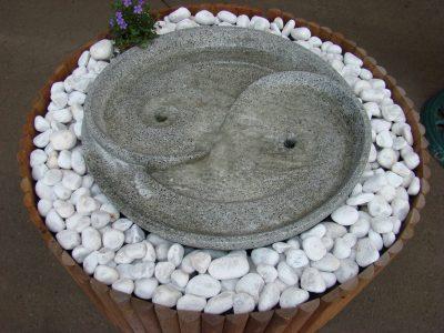 Moyenne fontaine Harmonie vert de gris